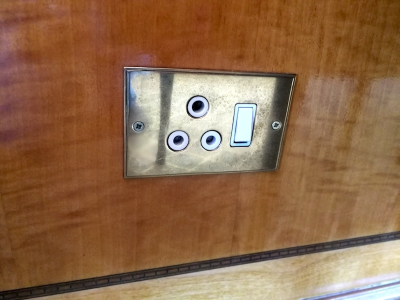 Electricity point on the Blue Train