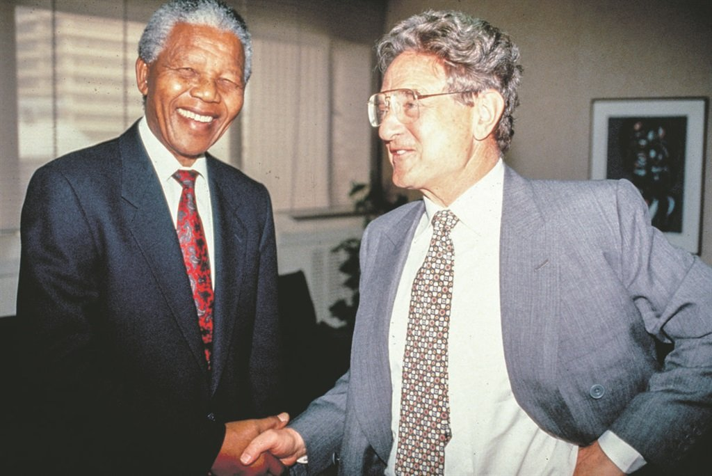Image result for MANDELA AND GEORGE SOROS