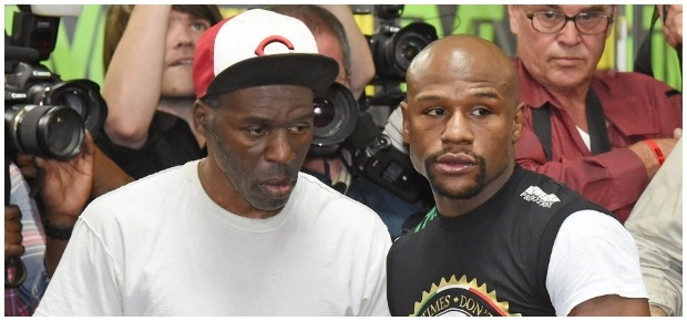 Roger and Floyd Mayweather. (Photo:Getty Images/Ga