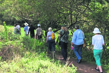 PHOTO: SUPPLIEDThe walkers enjoying the guided birding and nature walk.
