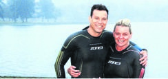 PHOTO: SUPPLIEDKelly Kidgell and swimming partner Murray Clark are aiming to raise funds in order to build a school for the disabled in Ntshongweni Township.