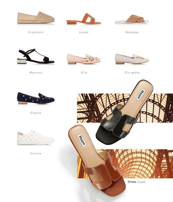 Deftige plat skoene