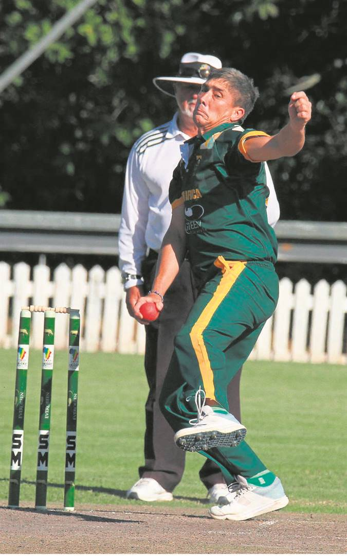 Alan Dawson of South Africa, in action against England on Friday 13 March at Wynberg Boys' High.