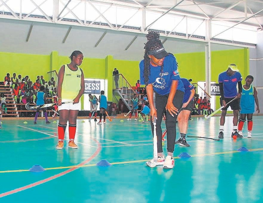 Indoor hockey club, Khazaland Oaks was launched in Makhaza on Saturday 14 March.