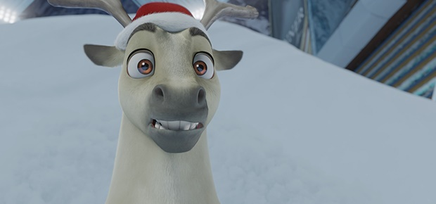 A scene from the movie Elliot the Littlest Reindee