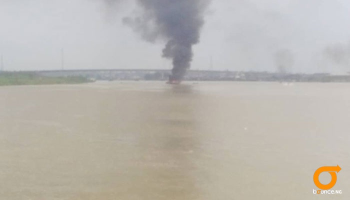 Boat with fuel explodes in sea