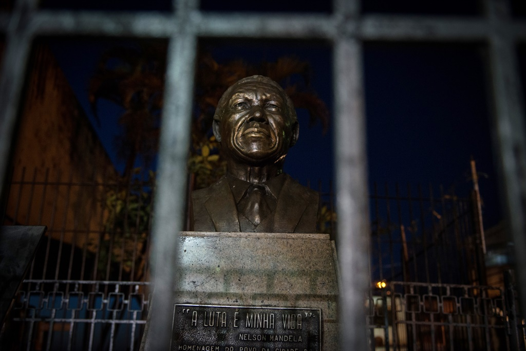 The statue of Former South African President Nelso