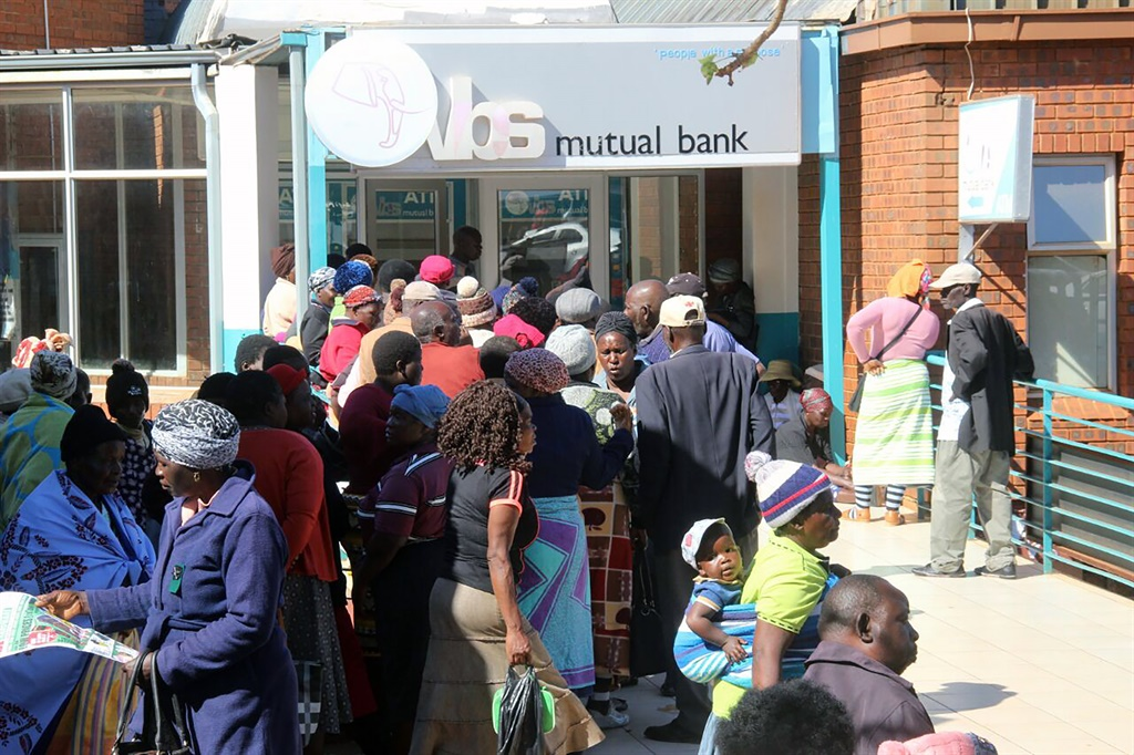 Desperate clients of VBS Mutual Bank gather at one