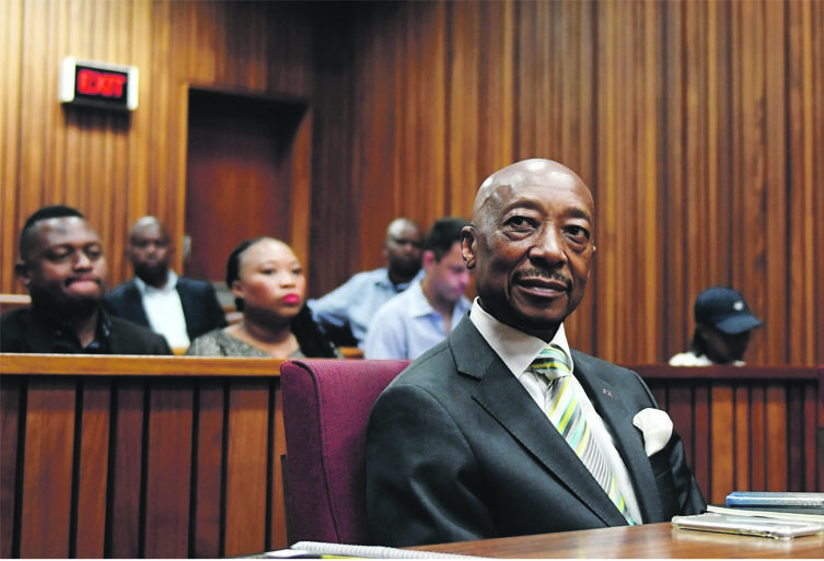 Former SARS commissioner Tom Moyane at the North Gauteng High Court. (PHOTO: Deaan Vivier)
