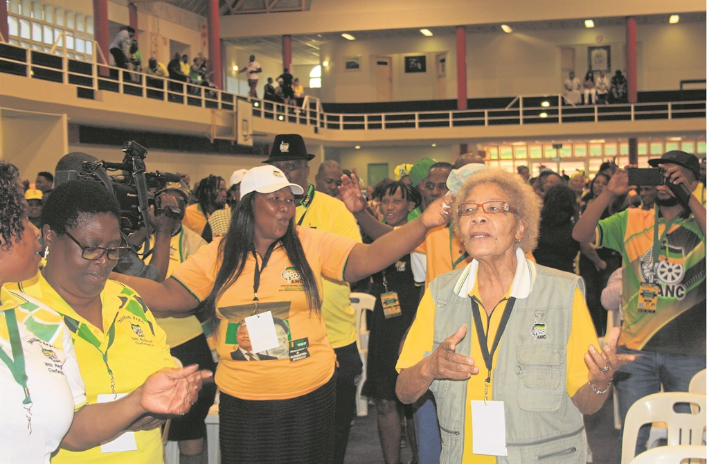 ANC members in a jovial mood during the party's provincial list conference in Durban on Wednesday.