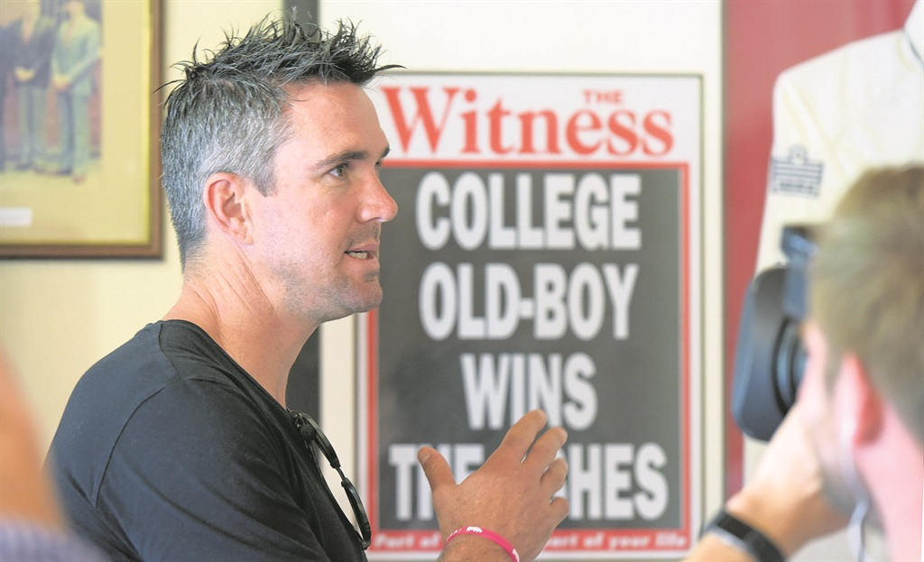 Maritzburg College old boy and former England cricketer Kevin Pieterson visited the school on Thursday during the making of a Sky Sports documentary on his career.