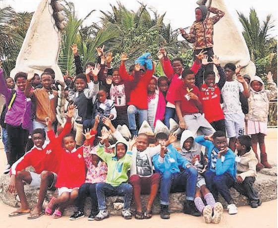 PHOTO: suppliedChildren from Tongaat visit uShaka Marine World.