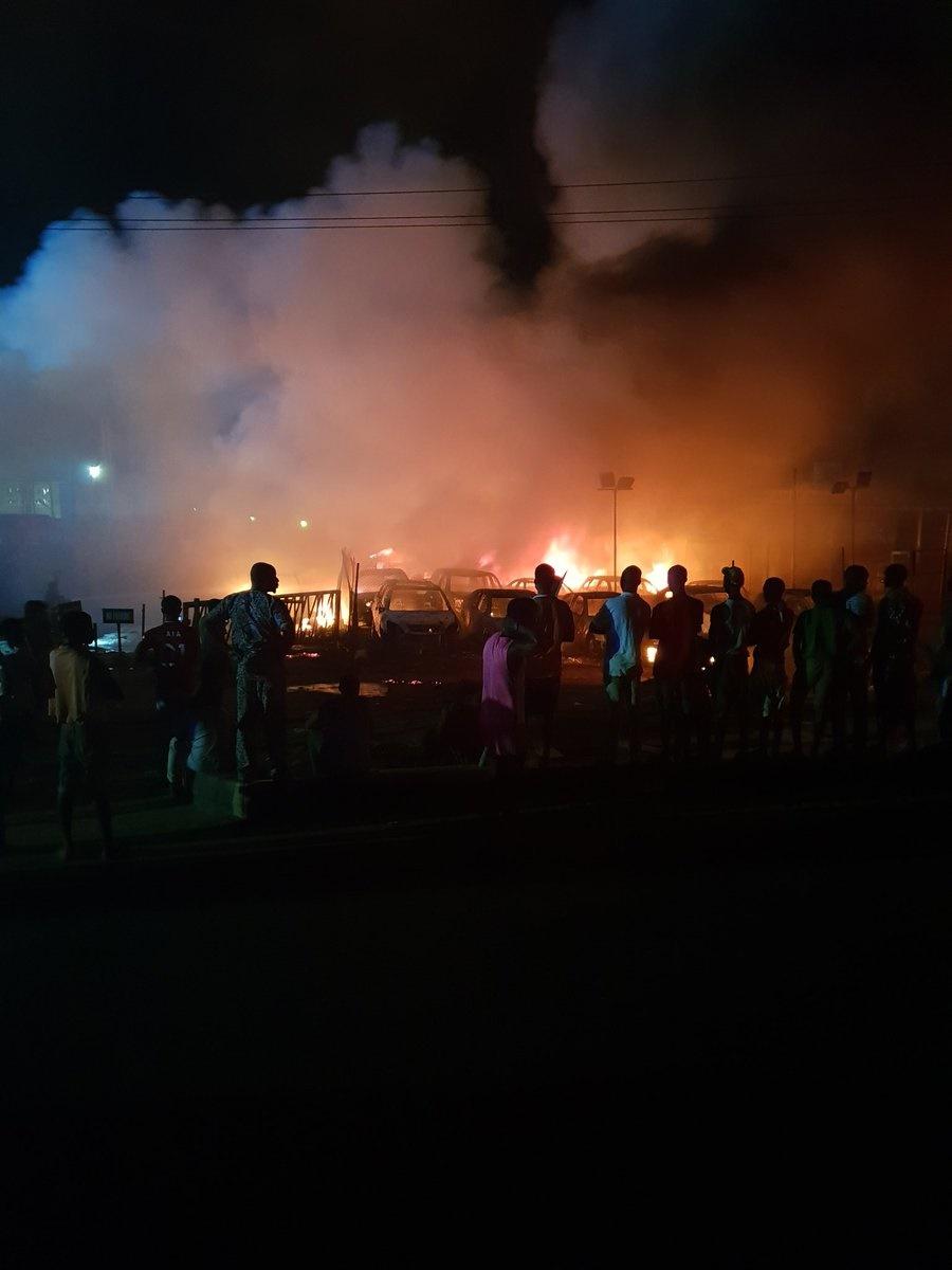 abule-egba, fire outbreak