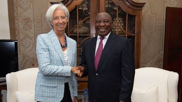 President Cyril Ramaphosa met with Christine Lagarde, International Monetary Fund's Managing Director who is in the country as part of IMF head Africa trip. (Pic: GCIS)