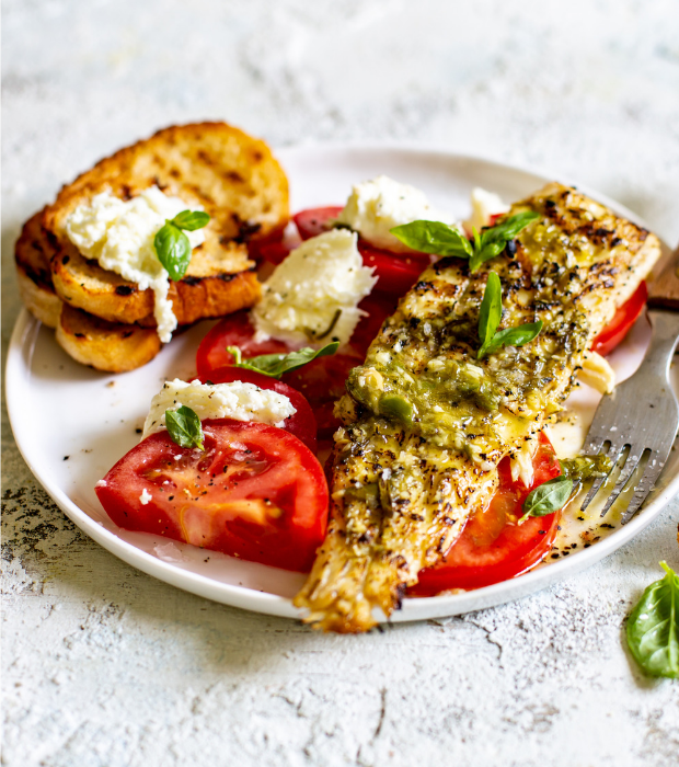 Summer Caprese fish salad