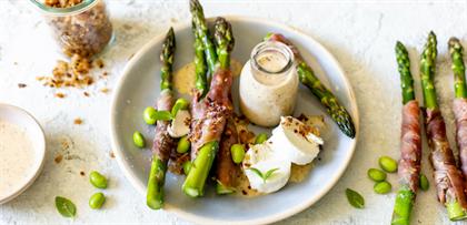 salad, asparagus, recipe