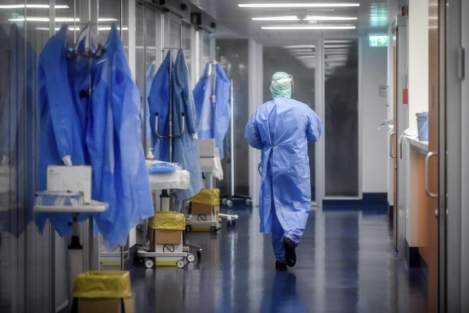 Corridors of a hospital in Italy, a country that has been hard hit by the novel coronavirus.