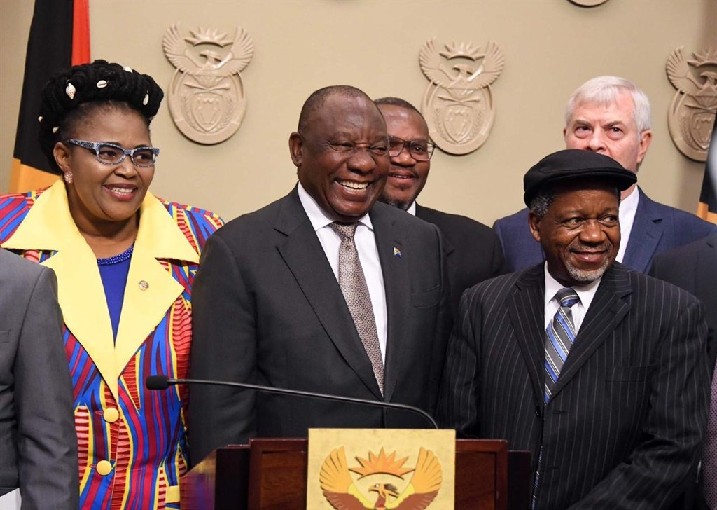 President Cyril Ramaphosa seen with African Christian Democratic Party leader Rev Kenneth Meshoe. (GCIS)