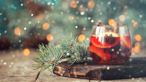 christmas hot mulled wine with cinnamon cardamom a