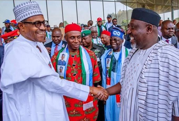 Buhari, Amaechi and Okorocha