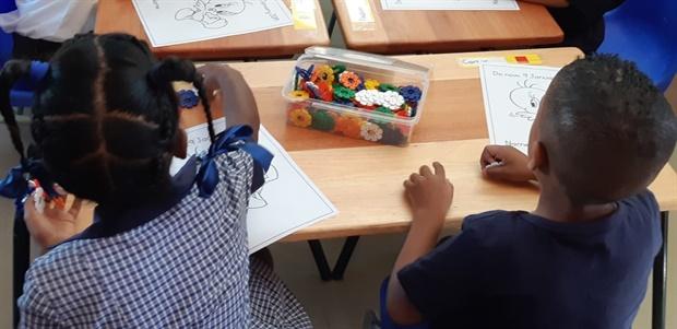 <strong><em>Grade Rs at Forest Village Leadership Academy. (Jenni Evans, News24)</em></strong>