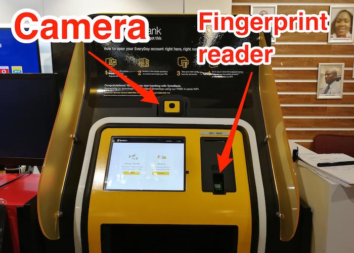 TymeBank kiosk devices