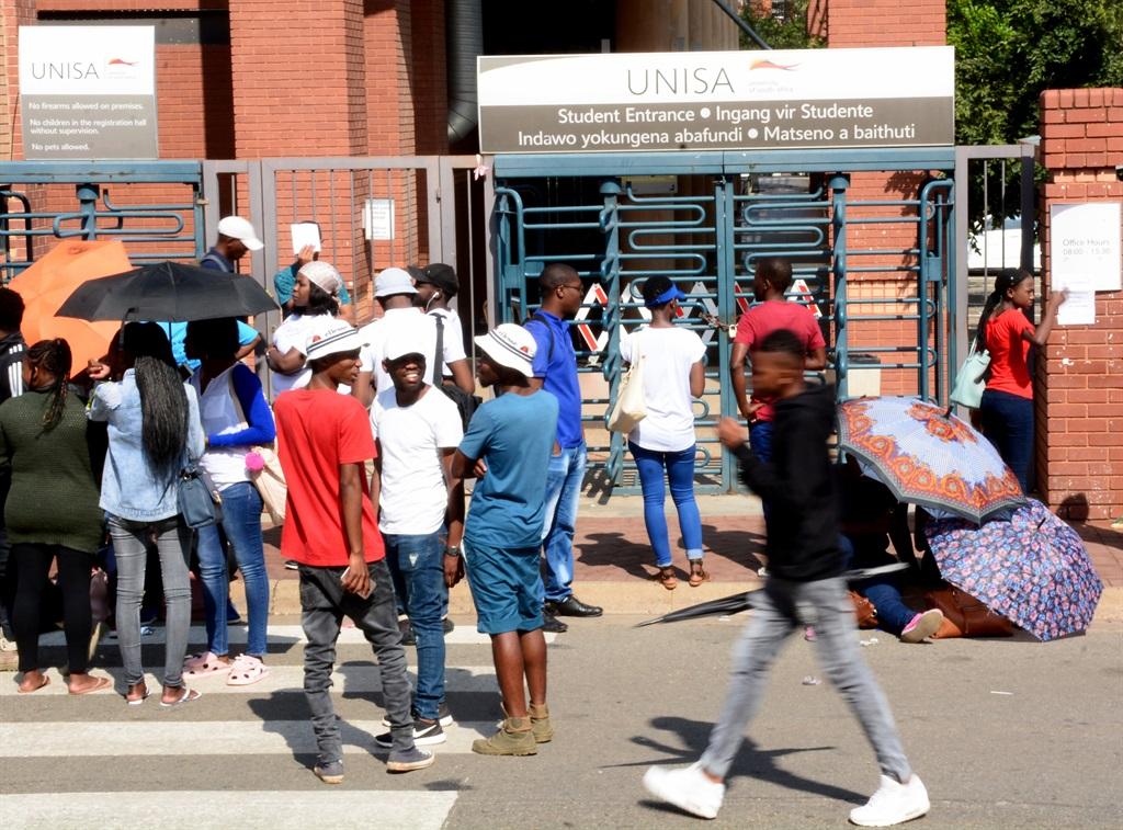 Sasco members at  Unisa's Sunnyside-campus in Pretoria.