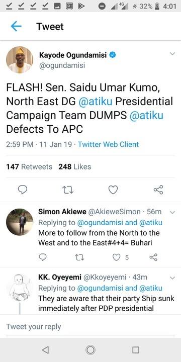 Ogundamisi's tweet