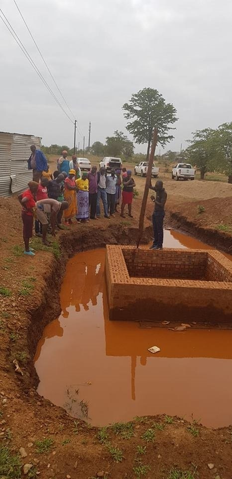 The trench that was left incomplete at the Giyani Bulk Water Project.