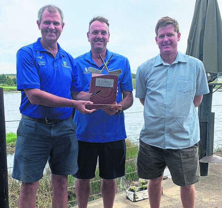 PHOTO: SUPPLIEDWinners of the Aheers Arcadia Golf Day (from left) are Dieter Meyer, Sydney Russels and Ian Redfern(chaiperson of Arcadia Old Age Home).