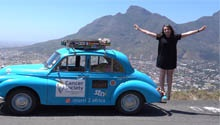 WATCH: Woman completes epic drive from Scotland to Cape Town in a 1958 Morris Minor