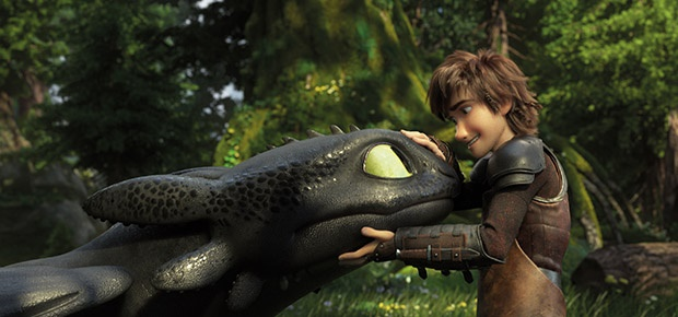 A scene in the film How to Train Your Dragon: The