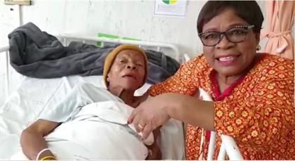 WATCH: MARY TWALA'S HAPPY LAST MOMENTS IN HOSPITAL