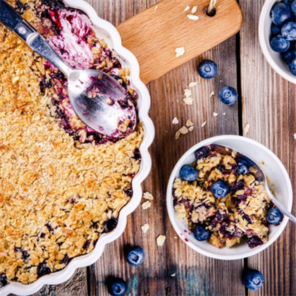 blueberry and walnut oatmeal