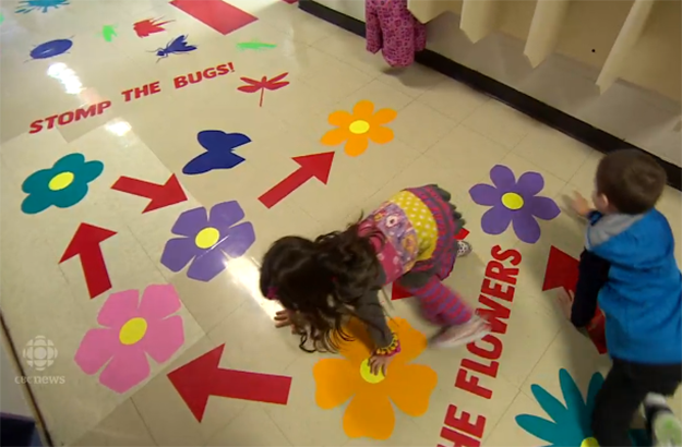 To make sure kids stay active and practice mindfulness, this school introduced a sensory hallway.