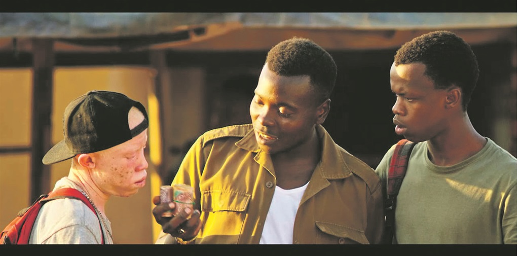 Street hustle:  Papi and Lefa try to sell their potent strain of dagga to a thug in a scene from Matwetwe Pictures: supplied