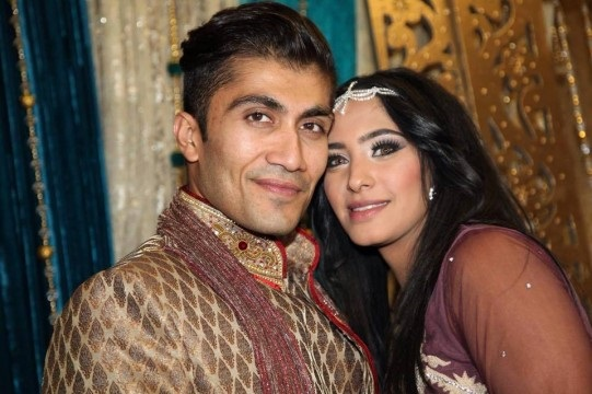 Rameez Patel and his first wife Fatima. He is accused of murdering her. (Supplied)
