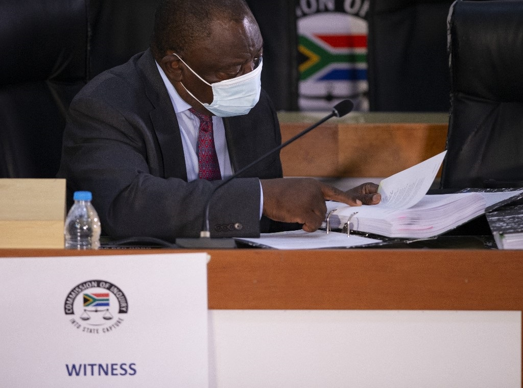 President Cyril Ramaphosa testified as ANC president before the Zondo Commission into state capture for two days last week.