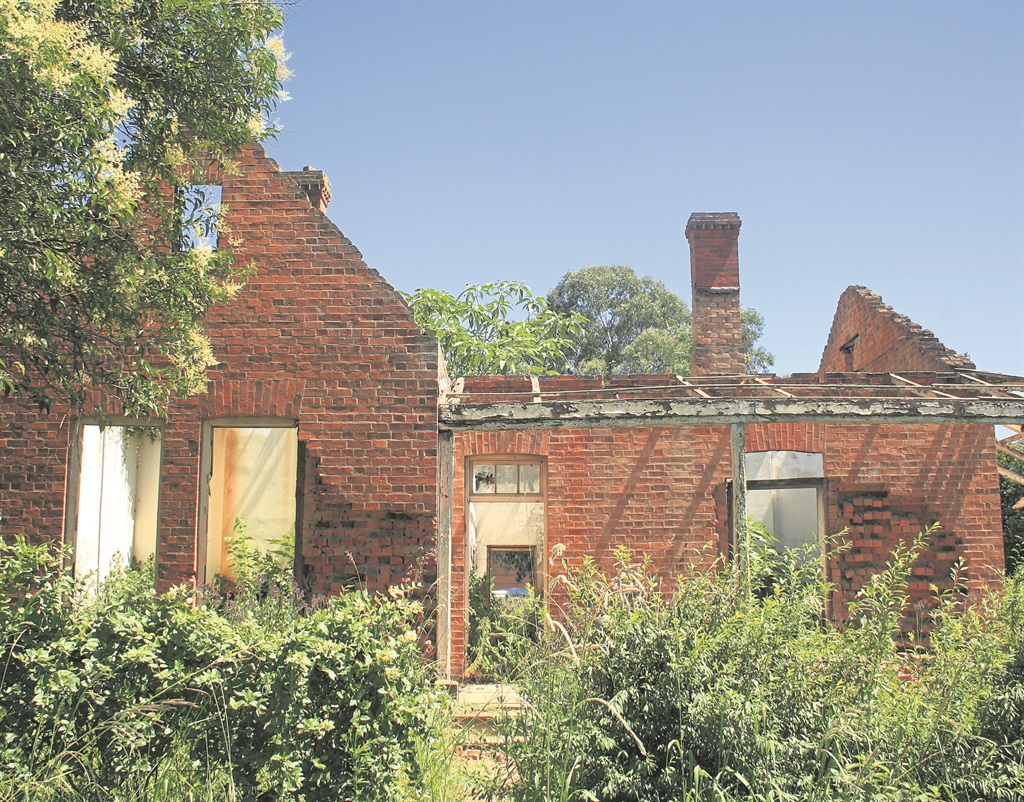 A property owned by the Department of Public Works on Morling Street in Howick has been reduced to rubble.PHOTOS: kerushun pillay
