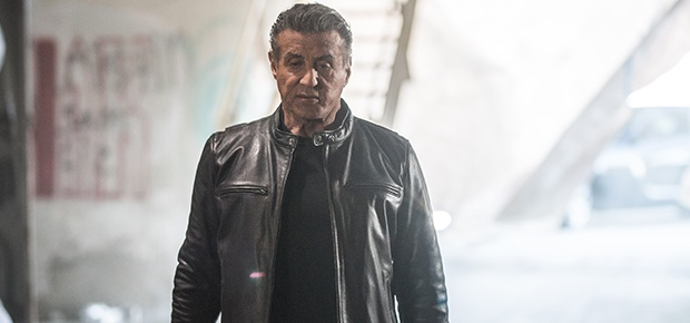 Sylvester Stallone in a scene from 'Backtrace.'