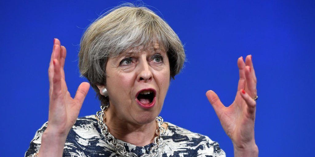 British prime minister Theresa May. (Getty Images)