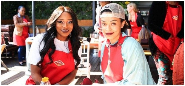 DJ Zinhle and Pearl Thusi. (Photo: Getty Images/Ga