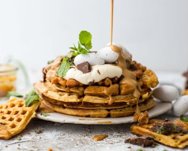 Peppermint crisp waffles