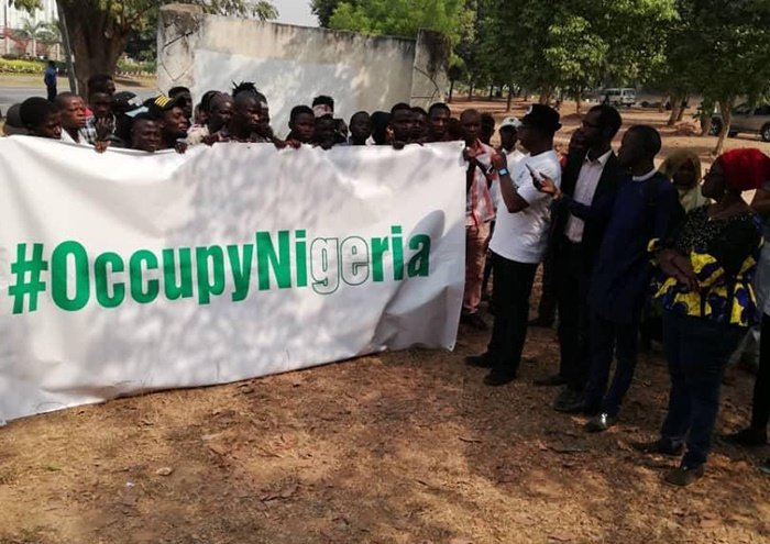 #OccupyNigeria protest holding over Onnoghen's sus