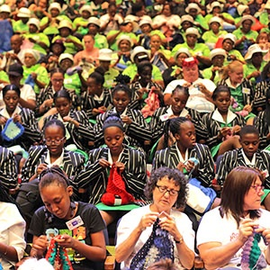 """It took 737 """"KnitWits for Madiba"""" 27 minutes of sheer """"woolpower"""" to clinch their latest world record - for the most people crocheting simultaneously."""