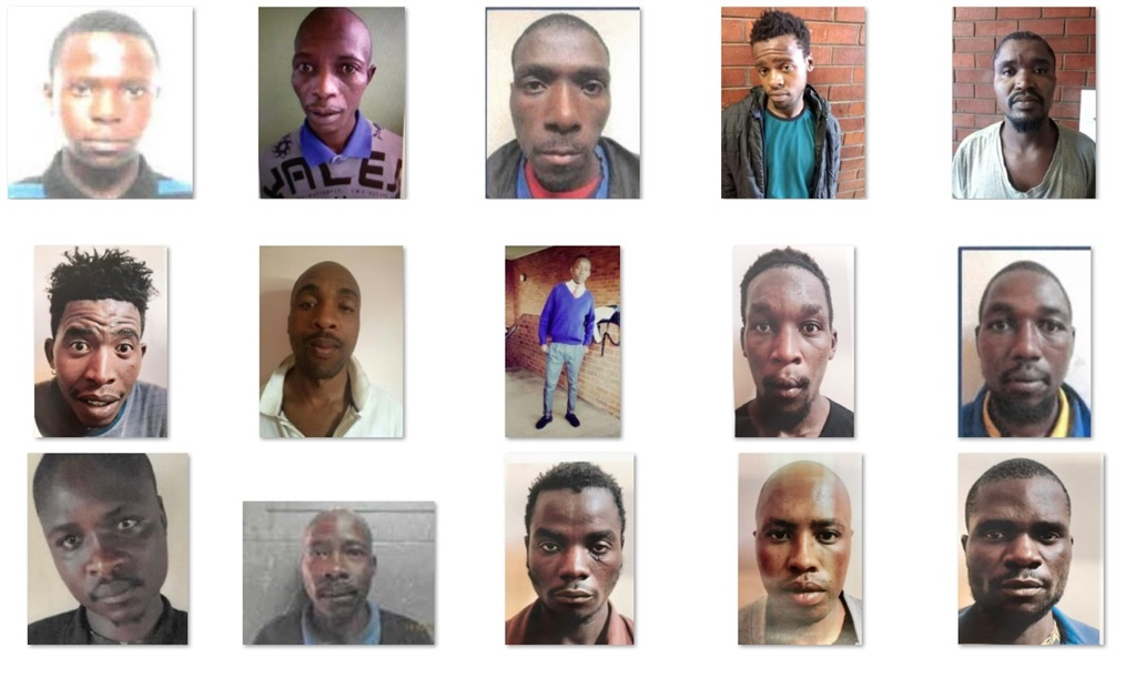 Pictures of the criminals who escaped.