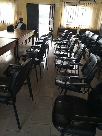 Empty court room in Akwa Ibom