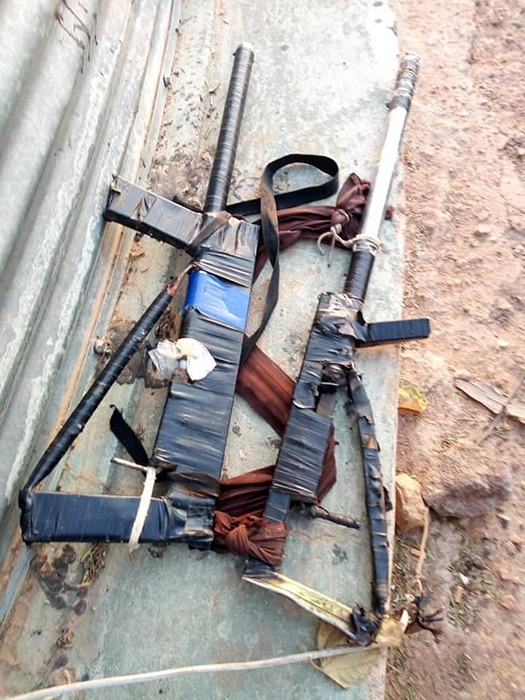 Zamfara Bandits Guns seized by troops of the Niger