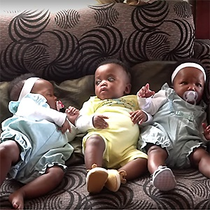 The Mafenuka quadruplets. Picture: News24