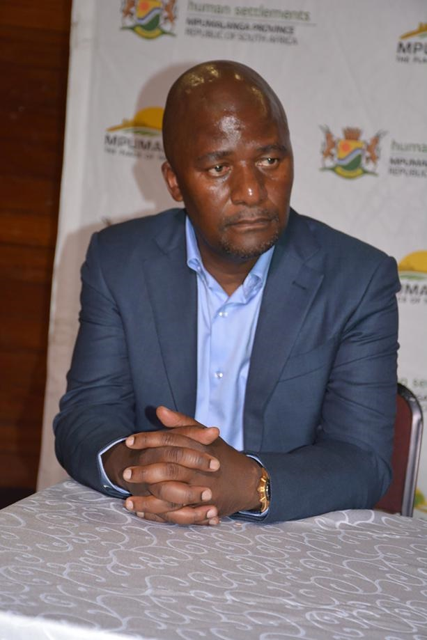 The head of Mpumalanga's human settlements department, Kebone Masange, was allegedly not vetted before he was employed about five years ago.